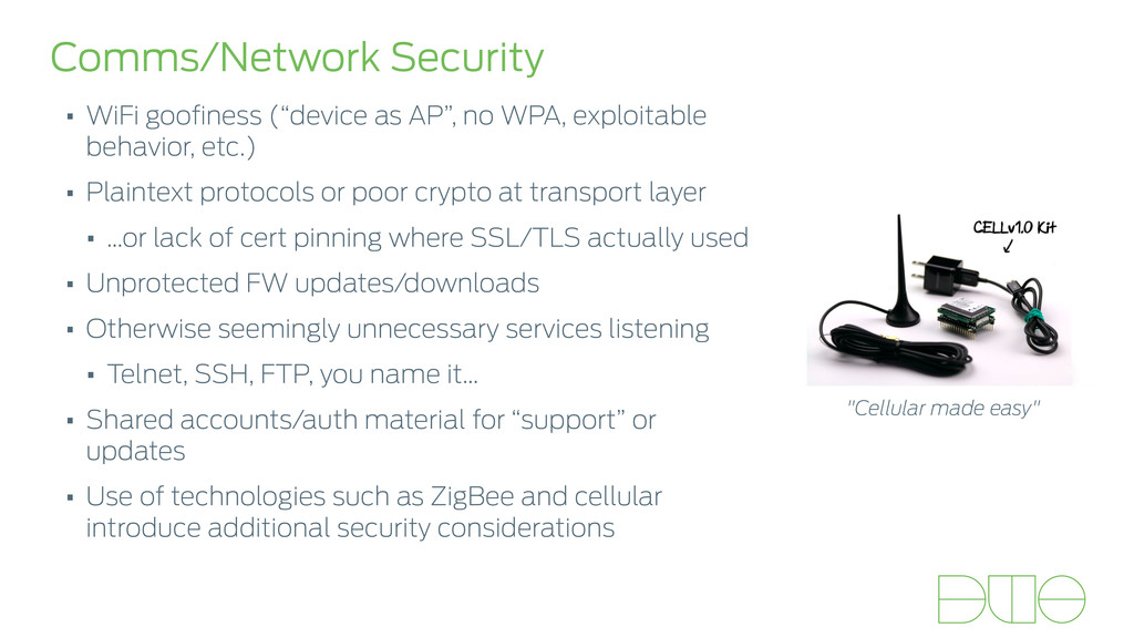 "Comms/Network Security • WiFi goofiness (""device..."