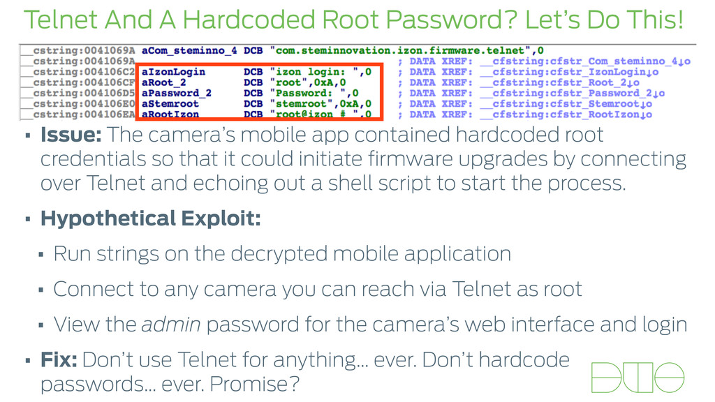 Telnet And A Hardcoded Root Password? Let's Do ...