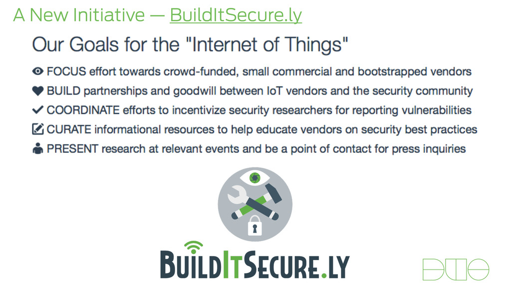 A New Initiative — BuildItSecure.ly