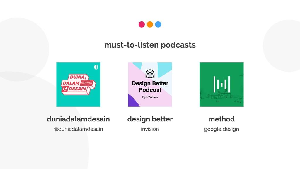 must-to-listen podcasts duniadalamdesain @dunia...
