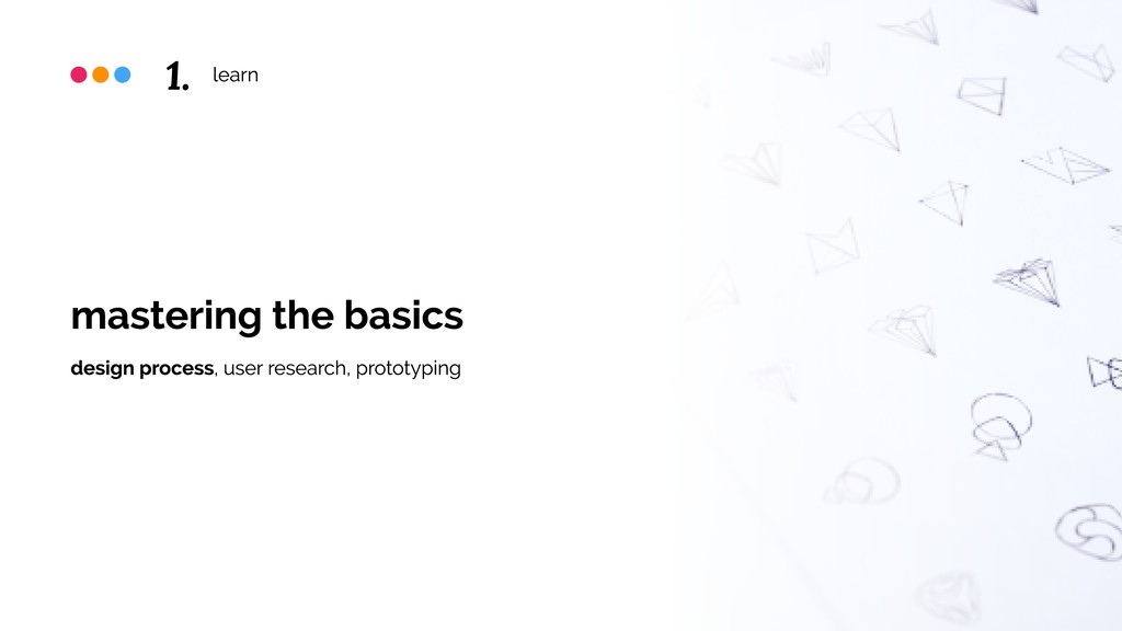 learn mastering the basics design process, user...