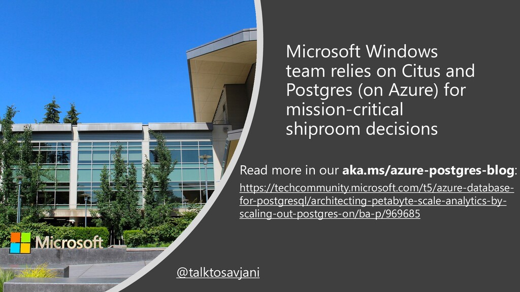 Microsoft Windows team relies on Citus and Post...