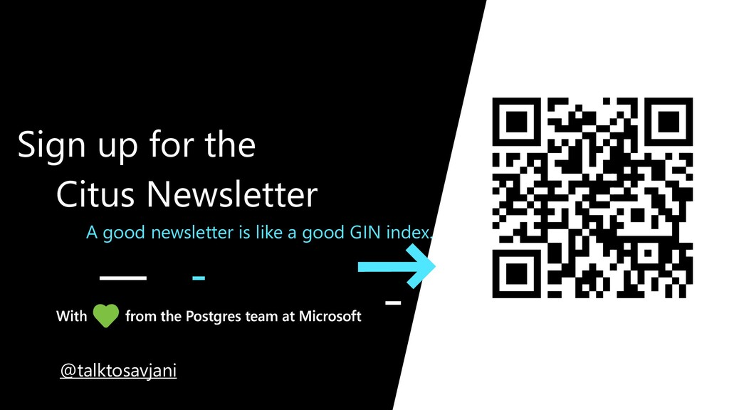A good newsletter is like a good GIN index. Sig...