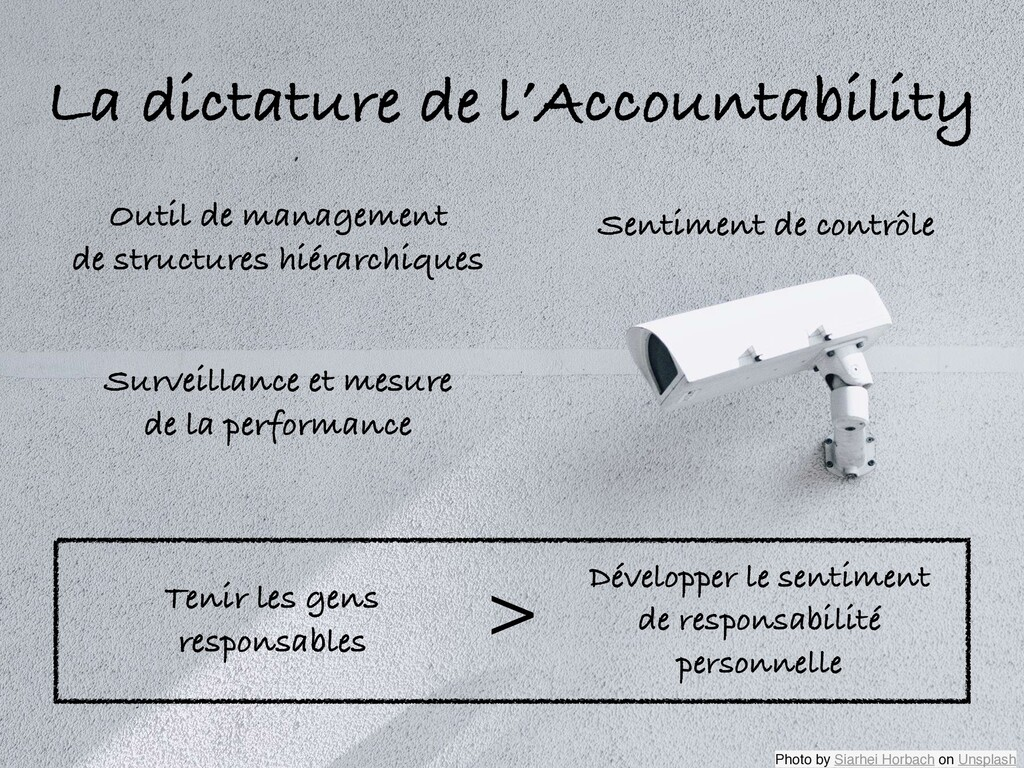 La dictature de l'Accountability Outil de manag...