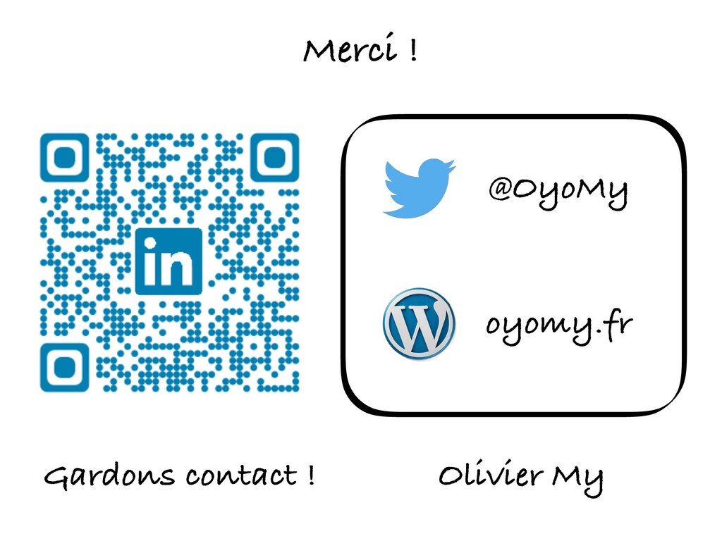 Gardons contact ! @OyoMy Olivier My oyomy.fr Me...