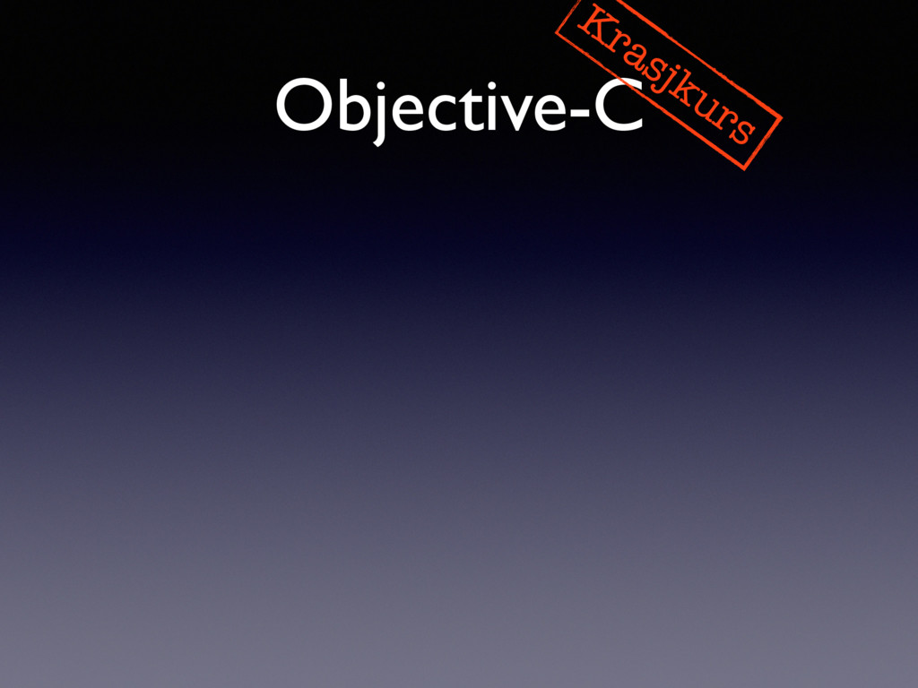 Objective-C Krasjkurs