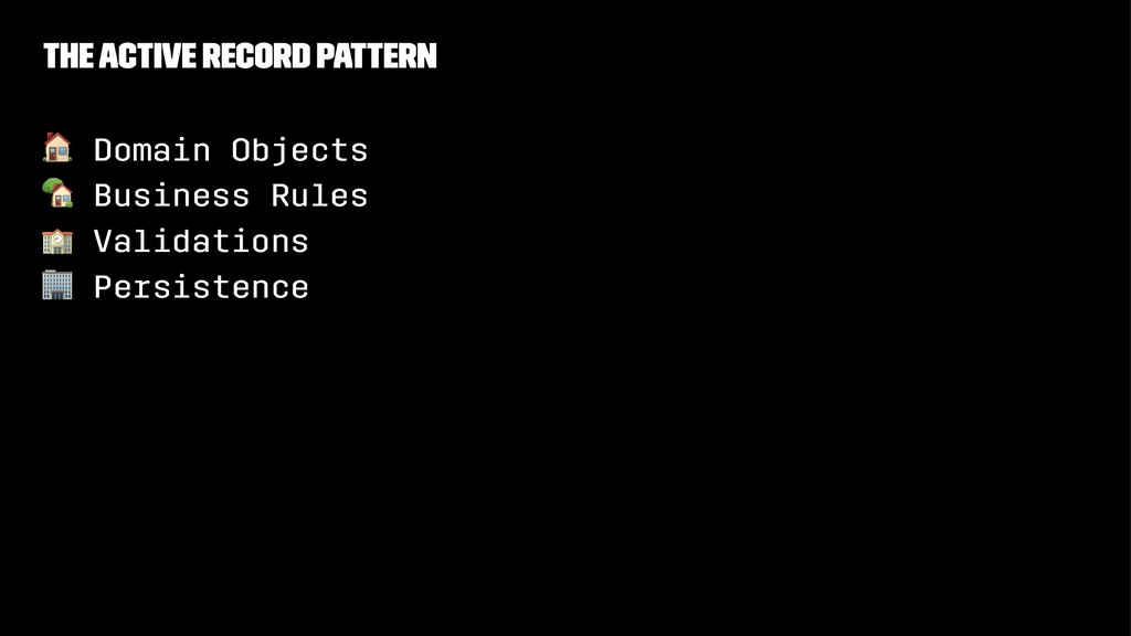 """The Active Record Pattern ! Domain Objects """" Bu..."""