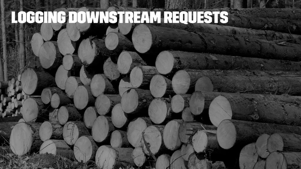 Logging downstream requests