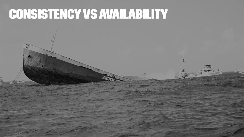 Consistency vs availability