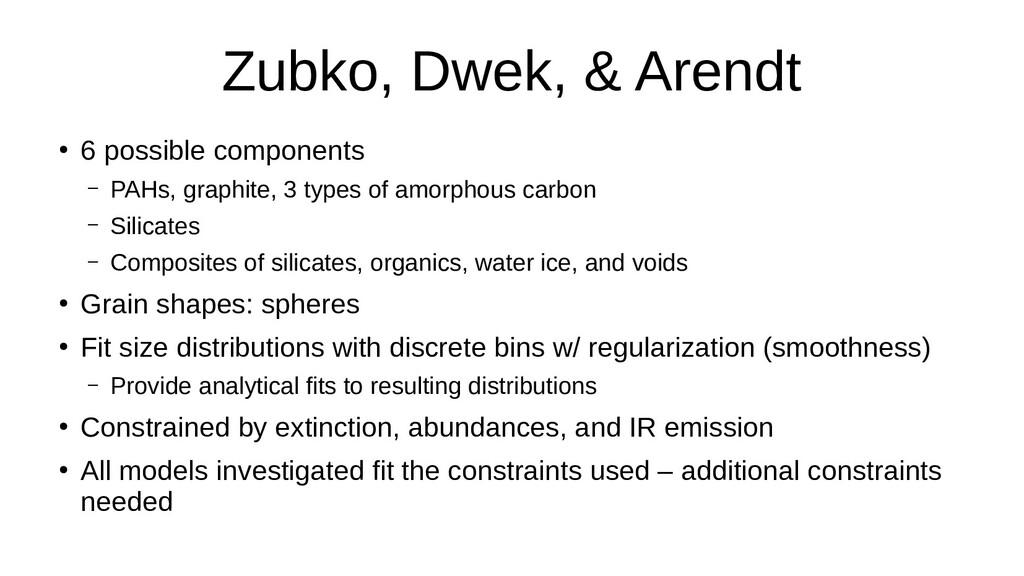 Zubko, Dwek, & Arendt ● 6 possible components –...