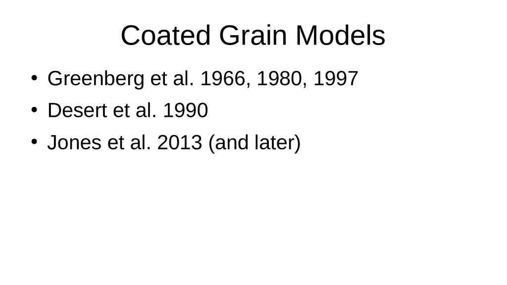 Coated Grain Models ● Greenberg et al. 1966, 19...