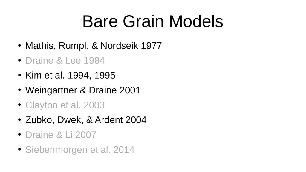 Bare Grain Models ● Mathis, Rumpl, & Nordseik 1...