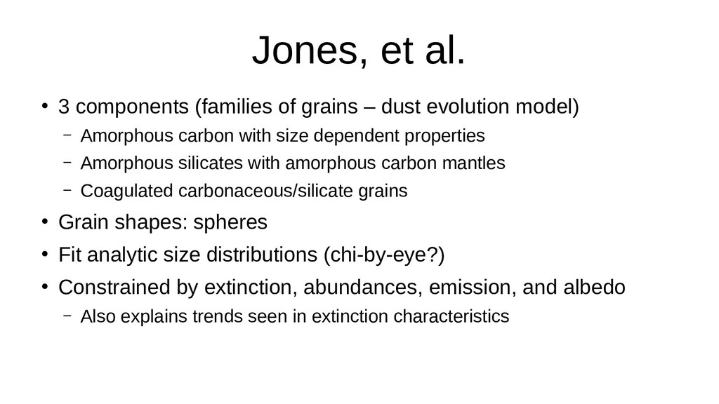 Jones, et al. ● 3 components (families of grain...