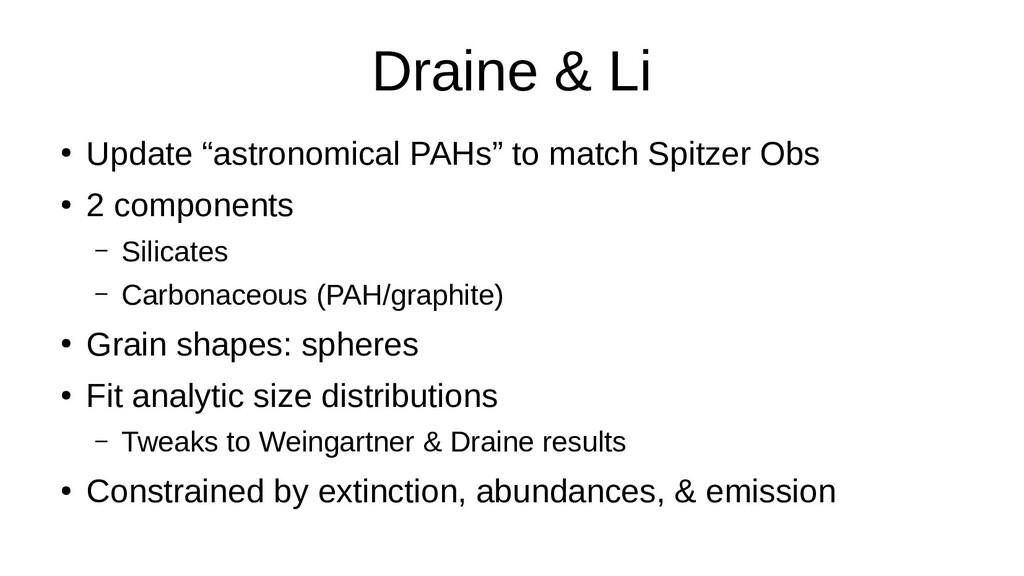 "Draine & Li ● Update ""astronomical PAHs"" to mat..."