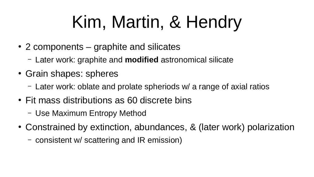 Kim, Martin, & Hendry ● 2 components – graphite...