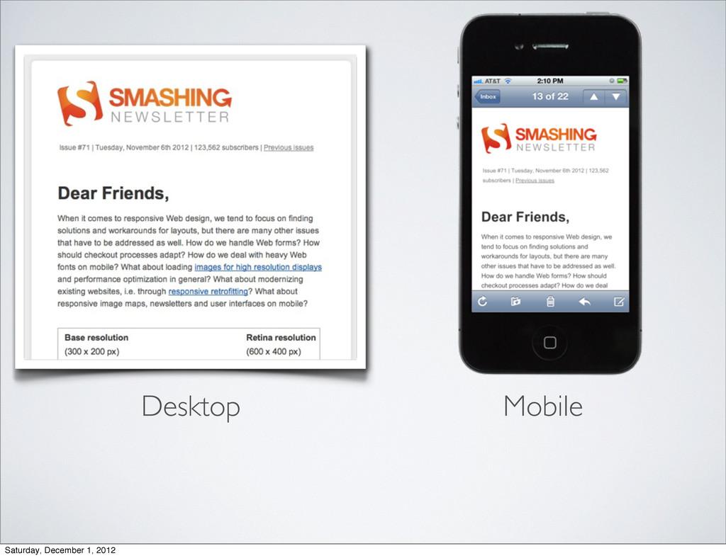 Desktop Mobile Saturday, December 1, 2012