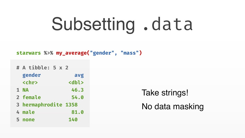 "Subsetting .data starwars %>% my_average(""gende..."