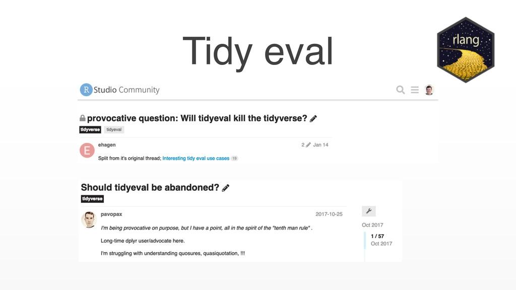 Tidy eval