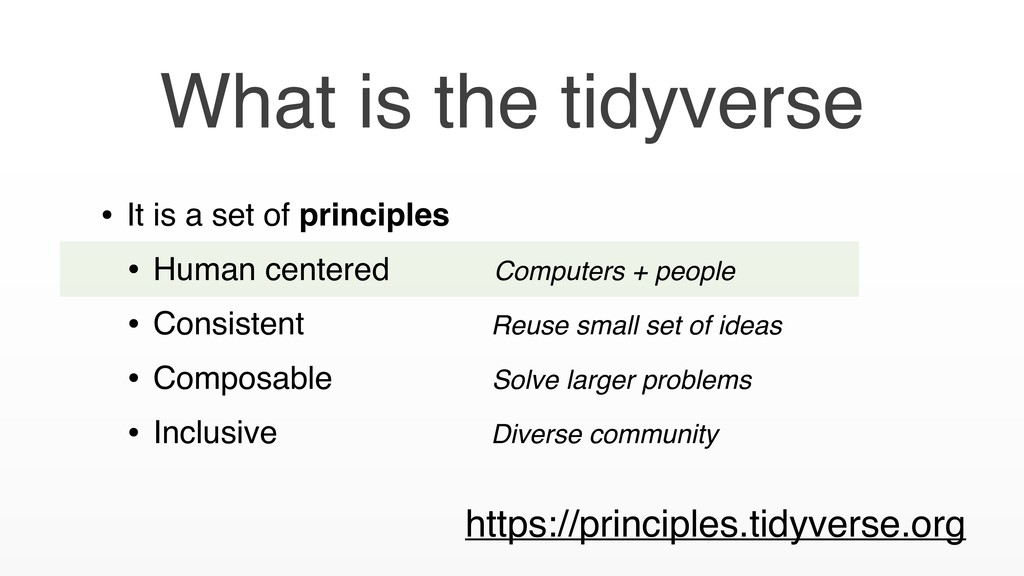 What is the tidyverse • It is a set of principl...