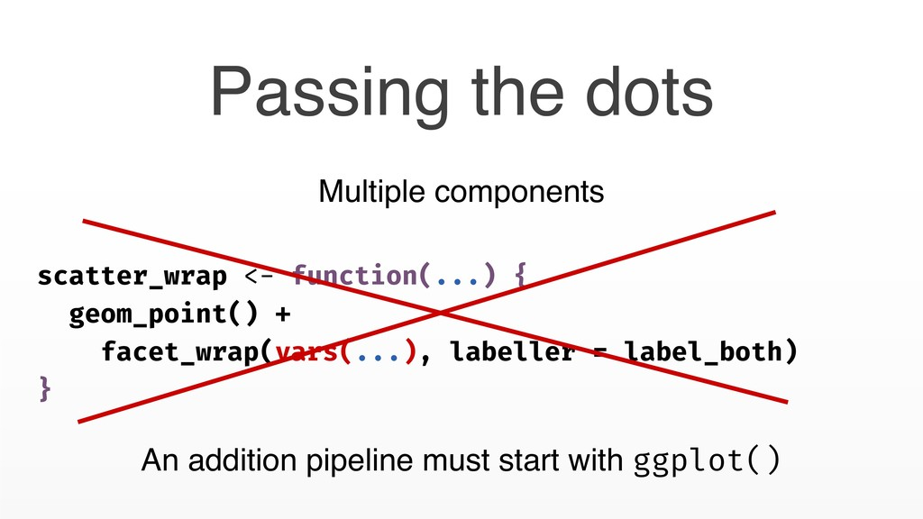 Passing the dots scatter_wrap <- function(...) ...