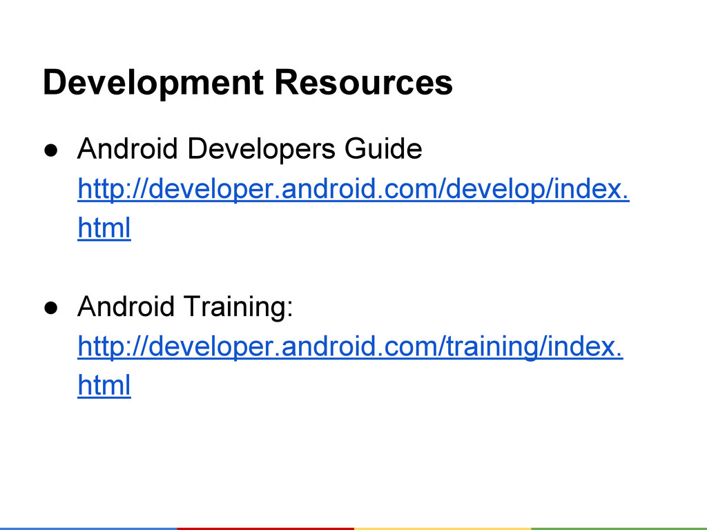 Development Resources ● Android Developers Guid...