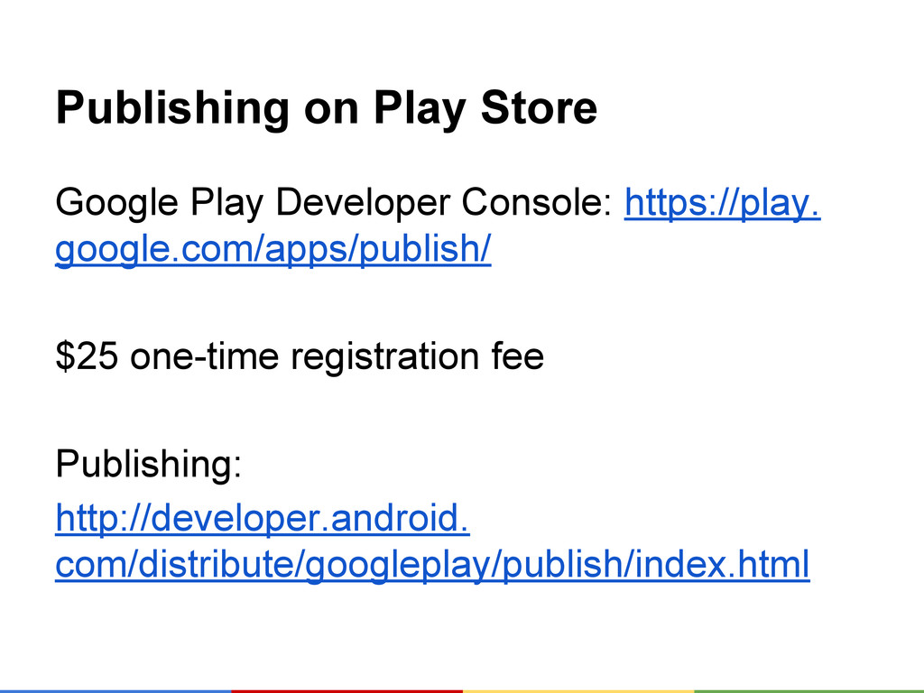 Publishing on Play Store Google Play Developer ...