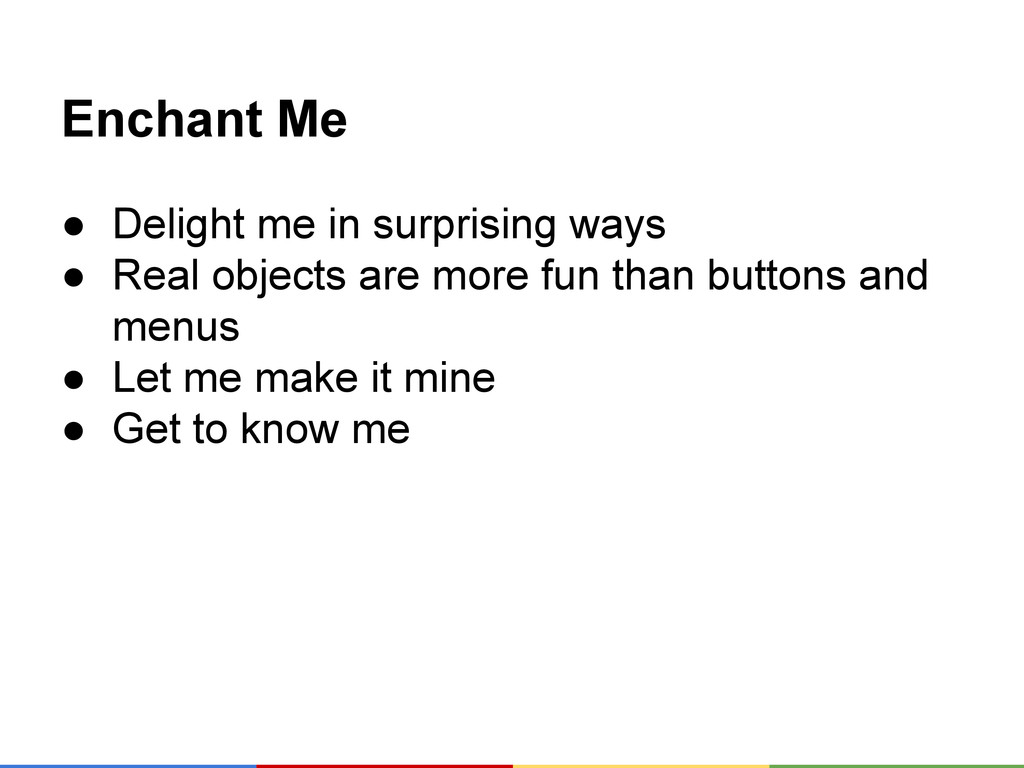 Enchant Me ● Delight me in surprising ways ● Re...