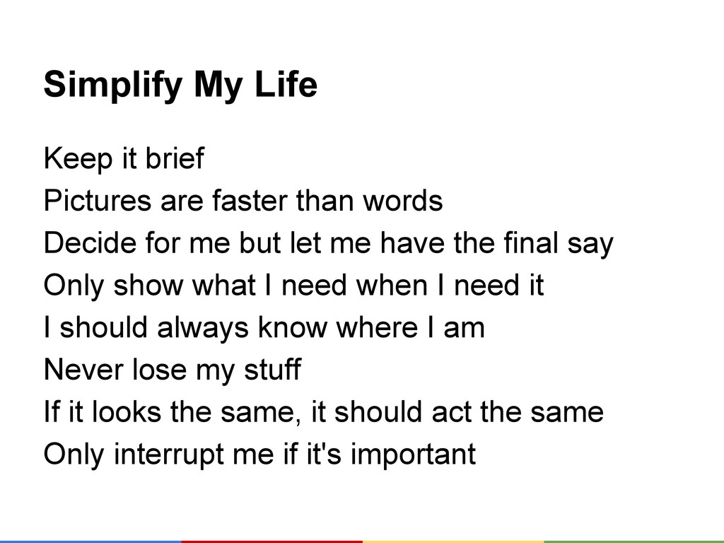 Simplify My Life Keep it brief Pictures are fas...
