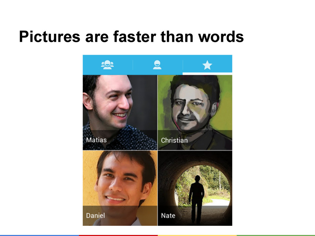 Pictures are faster than words