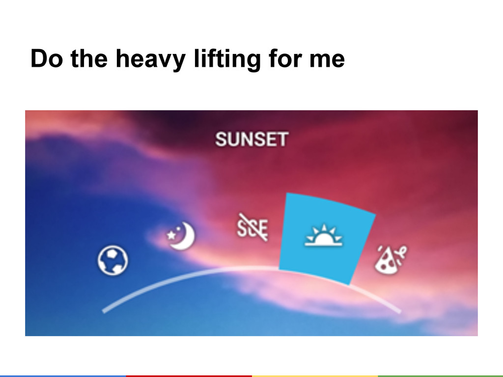 Do the heavy lifting for me