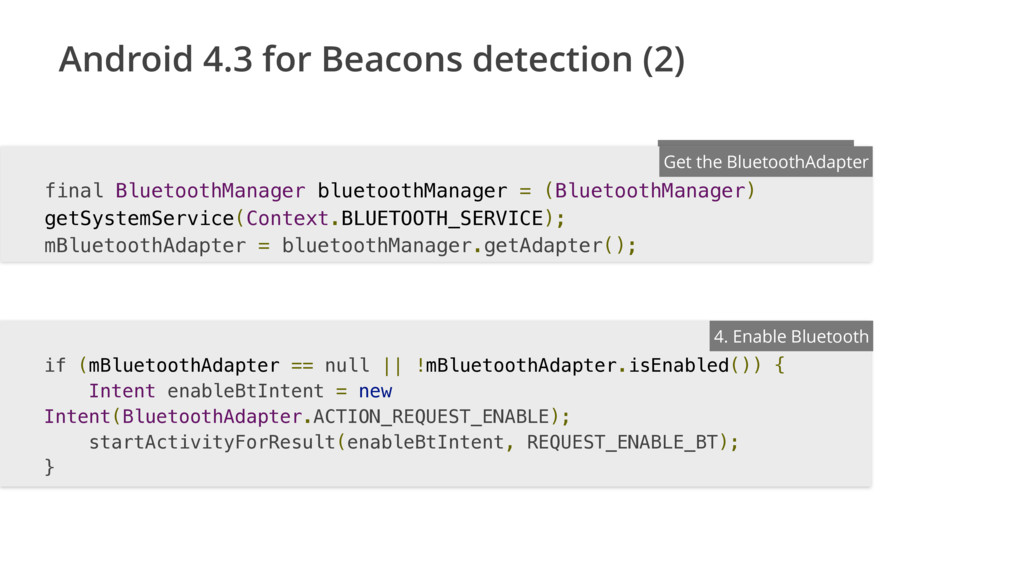 Android 4.3 for Beacons detection (2) ENTER FIL...