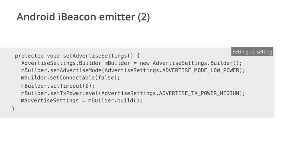 Android iBeacon emitter (2) ENTER FILENAME/LANG...