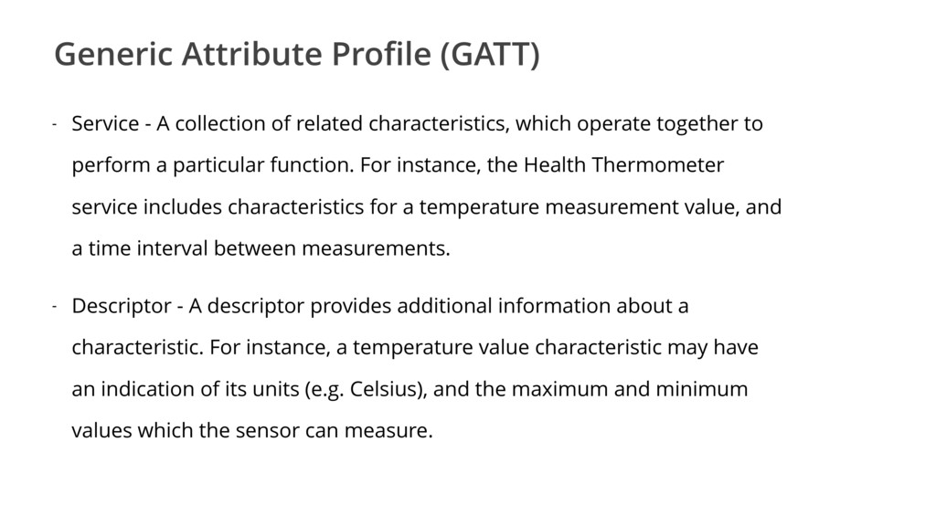 Generic Attribute Profile (GATT) - Service - A c...