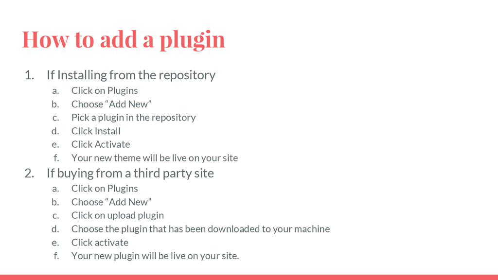How to add a plugin 1. If Installing from the r...