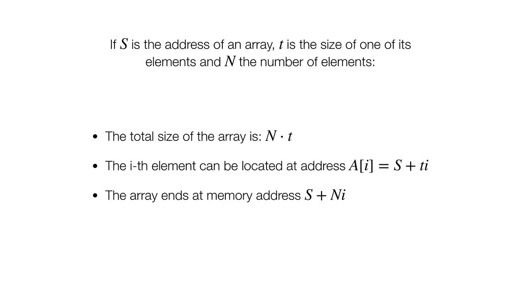 If is the address of an array, is the size of o...