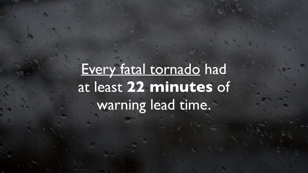 Every fatal tornado had at least 22 minutes of ...