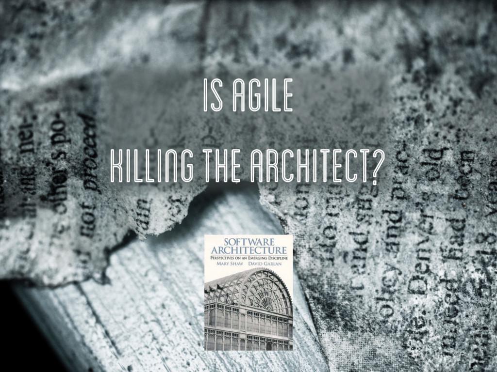 IS Agile killingthe architect?