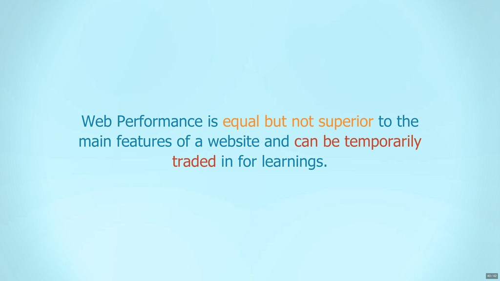 Web Performance is equal but not superior to th...