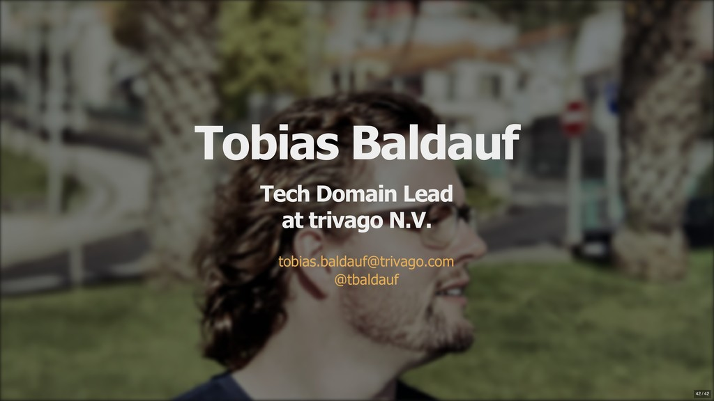 Tobias Baldauf Tech Domain Lead at trivago N.V....