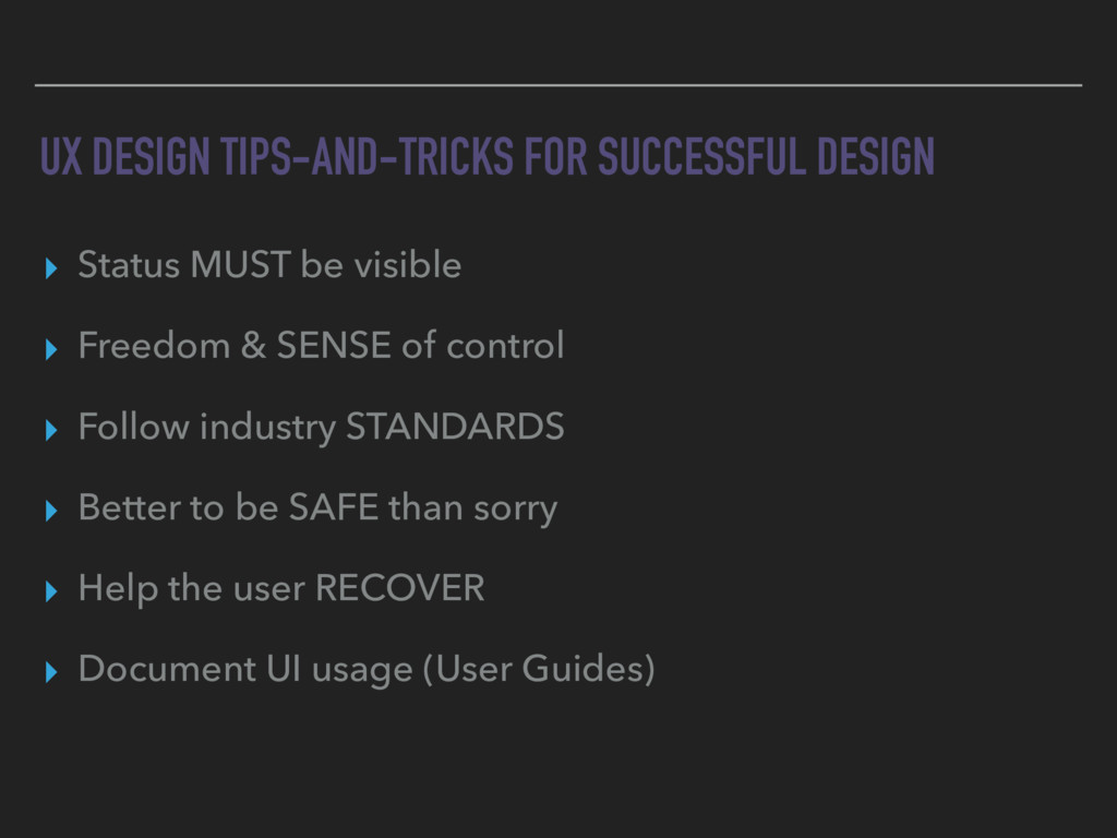 UX DESIGN TIPS-AND-TRICKS FOR SUCCESSFUL DESIGN...