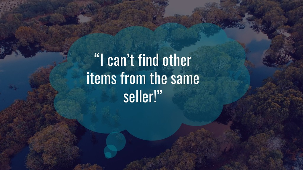 """I can't find other items from the same seller!"""