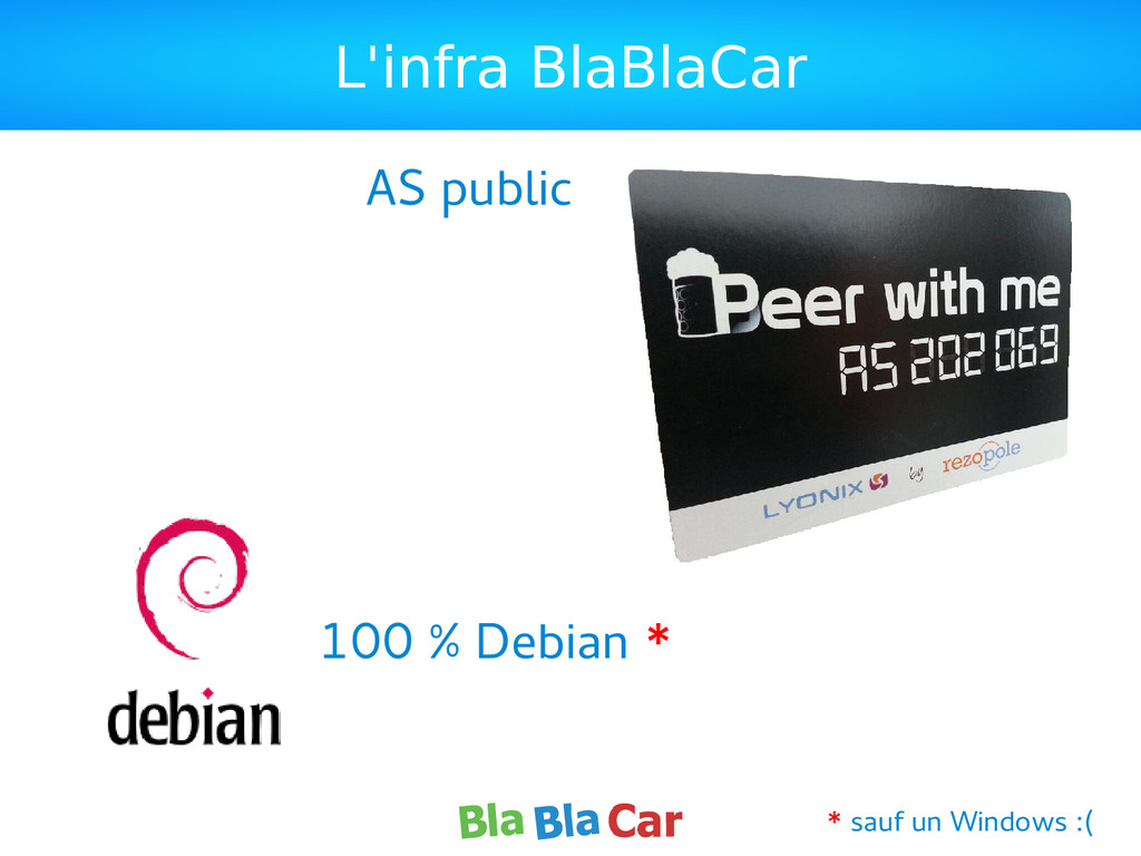 L'infra BlaBlaCar 100 % Debian * AS public * sa...
