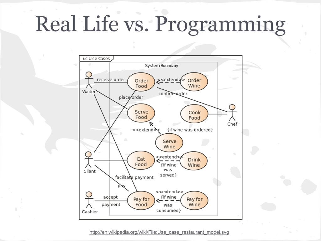 Real Life vs. Programming http://en.wikipedia.o...