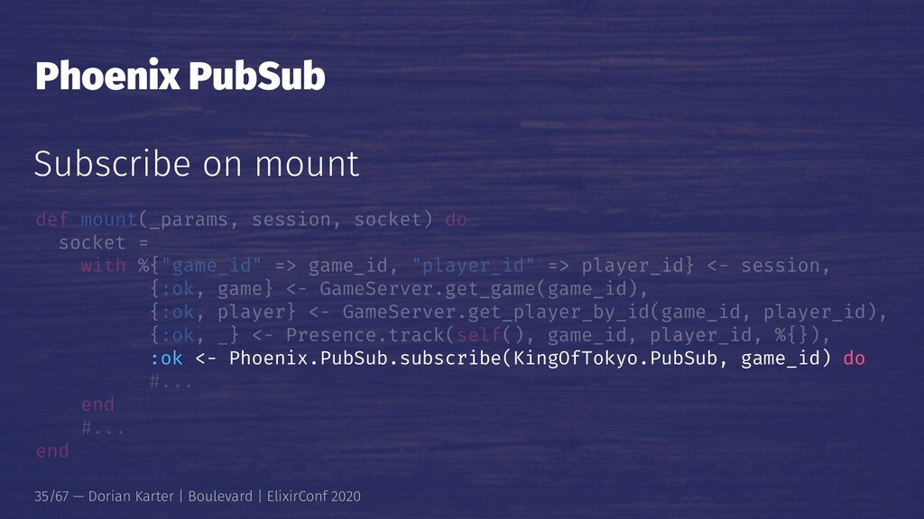 Phoenix PubSub Subscribe on mount def mount(_pa...