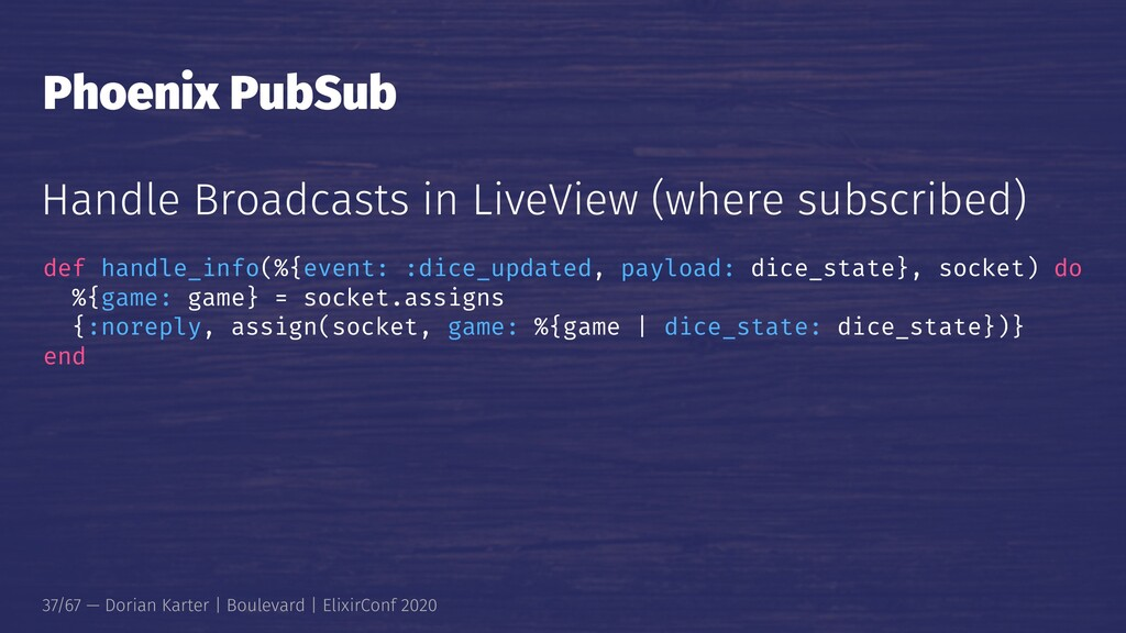 Phoenix PubSub Handle Broadcasts in LiveView (w...