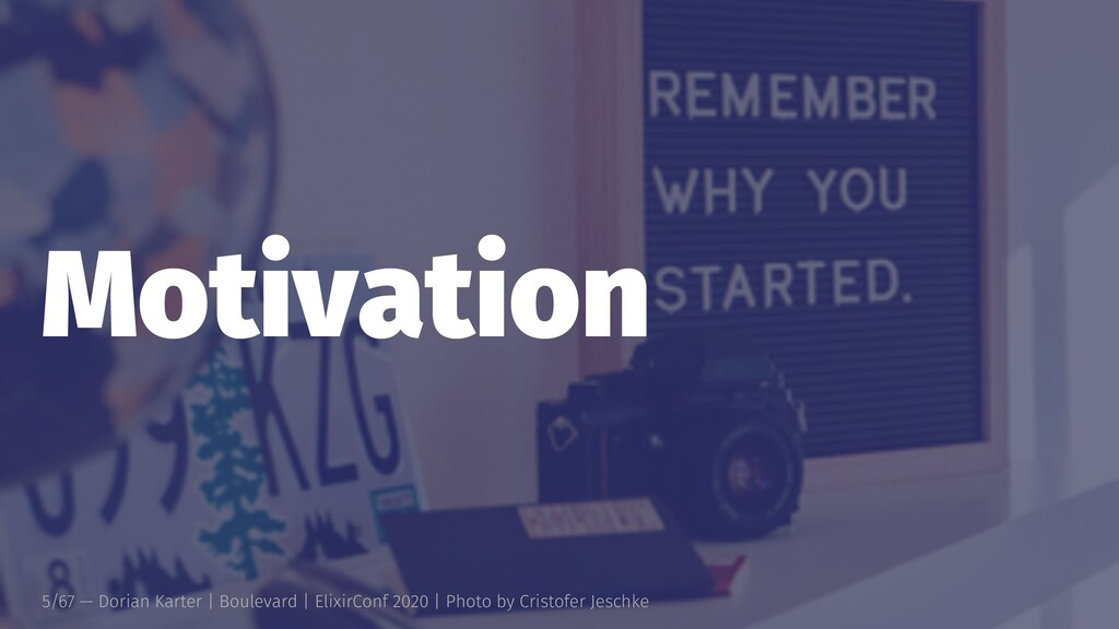 Motivation 5/67 — Dorian Karter | Boulevard | E...