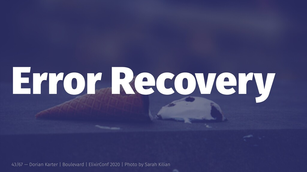 Error Recovery 43/67 — Dorian Karter | Boulevar...