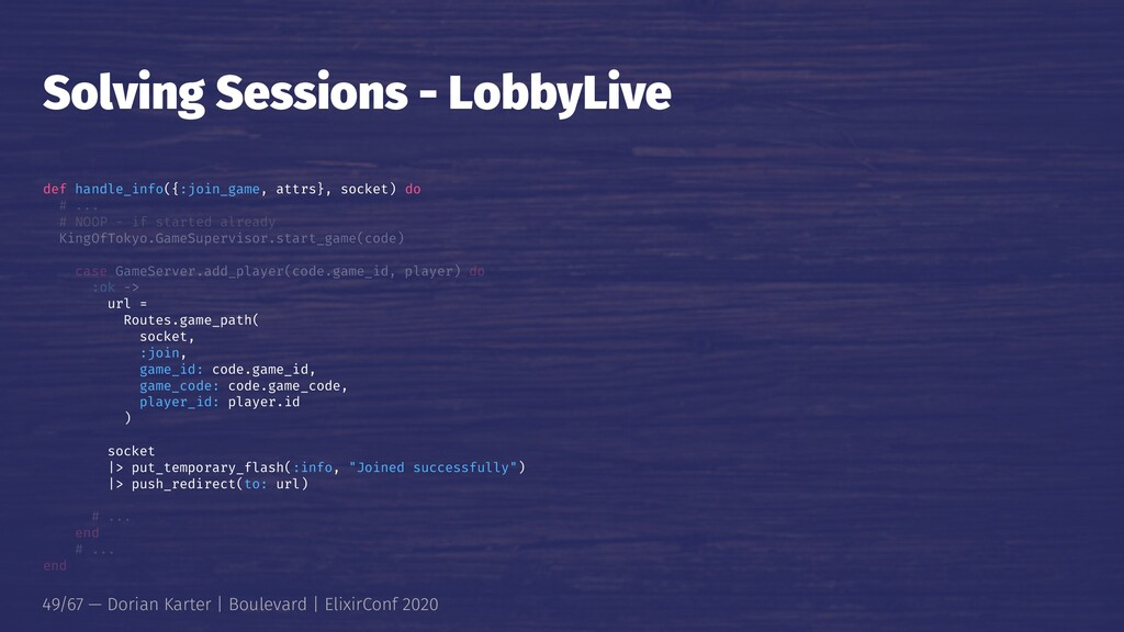 Solving Sessions - LobbyLive def handle_info({:...