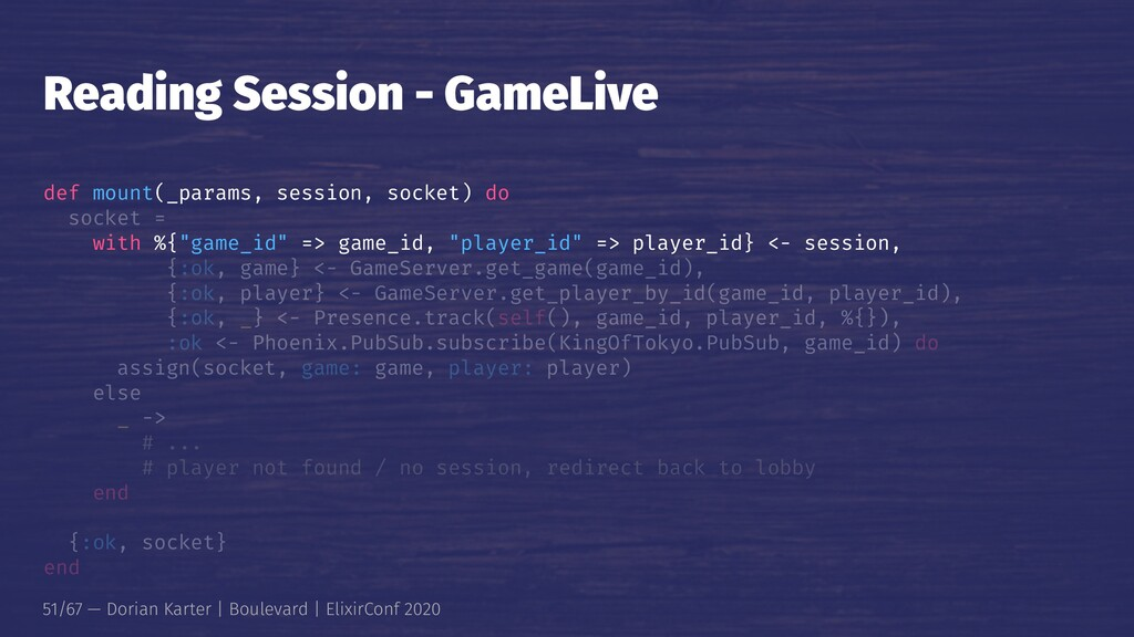 Reading Session - GameLive def mount(_params, s...