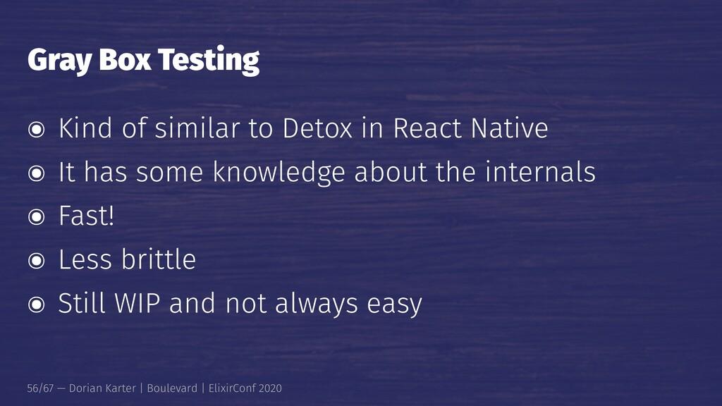 Gray Box Testing ๏ Kind of similar to Detox in ...